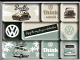 VW Volkswagen Small & Tall set of 9 mini fridge magnets in box (na)